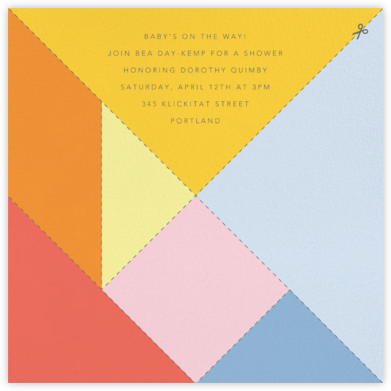 Tangram - Paperless Post - Baby Shower Invitations