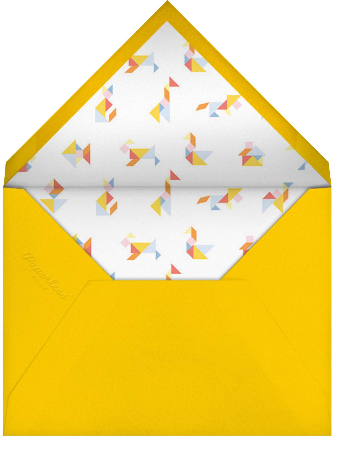 Tangram - Paperless Post - Baby shower - envelope back