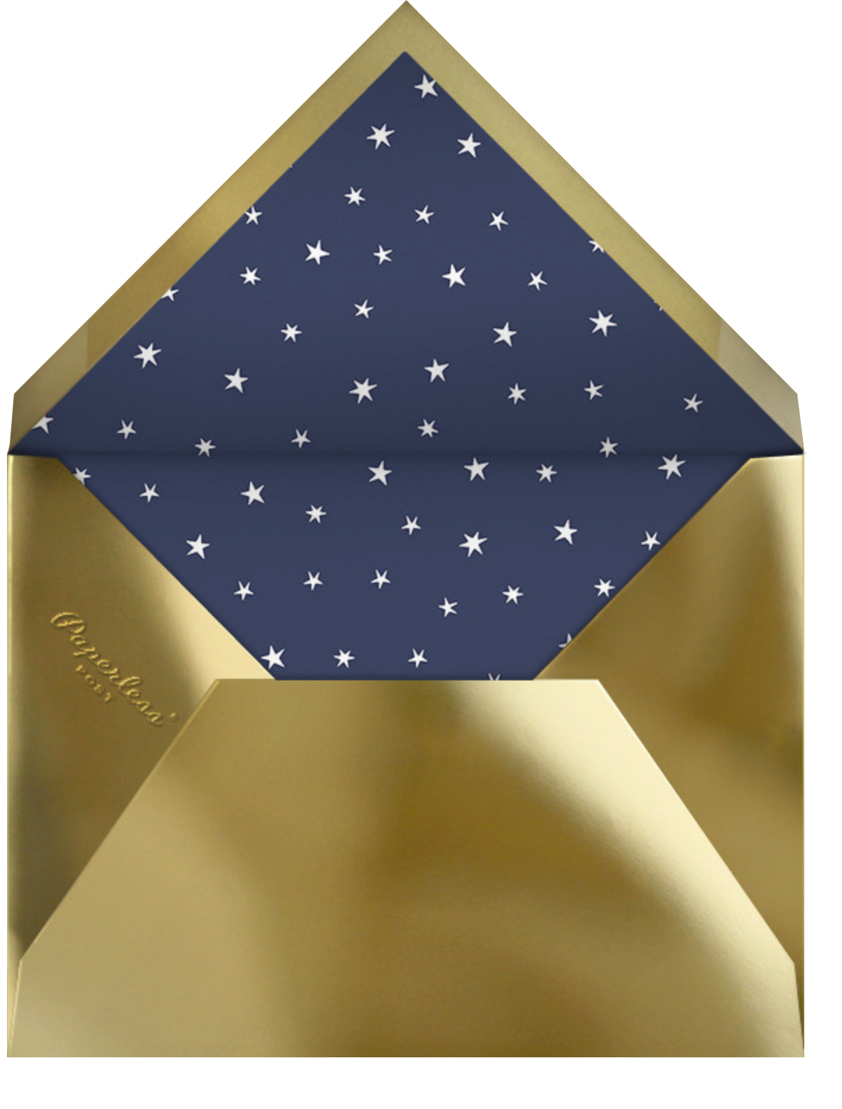 Twinkle Twinkle Little Star - Gold - Paperless Post - Baby shower - envelope back