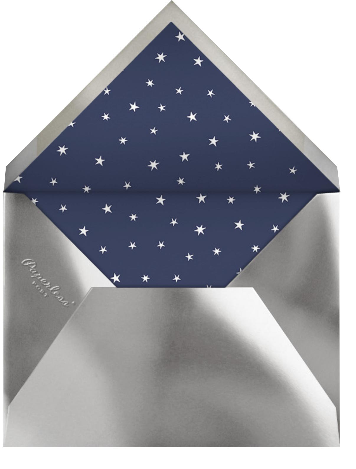 Twinkle Twinkle Little Star - Silver - Paperless Post - Baby shower - envelope back