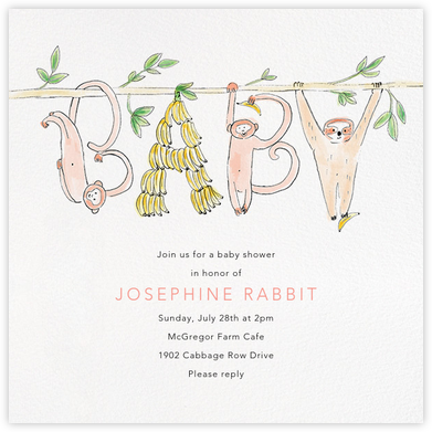 Just Hanging Out - Paperless Post - Baby Shower Invitations