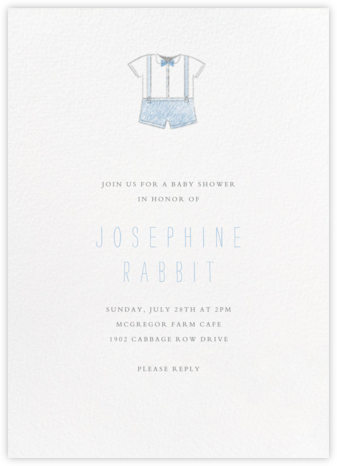 Baby Clothes - Blue - Paperless Post - Invitations