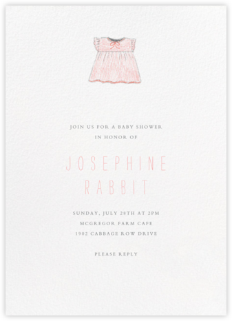 Baby Clothes - Pink - Paperless Post - Online Party Invitations