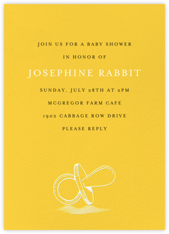 Pacified - Citrus - Paperless Post - Baby Shower Invitations