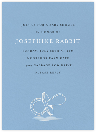 Pacified - Spring Rain - Paperless Post - Baby Shower Invitations