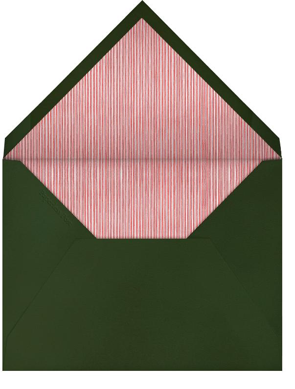 Winter Sprig - Hunter - Paperless Post - Save the date - envelope back