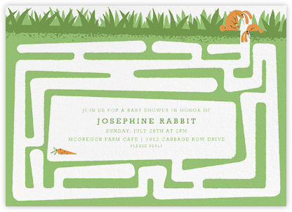 Hare and There - Paperless Post - Woodland Baby Shower Invitations