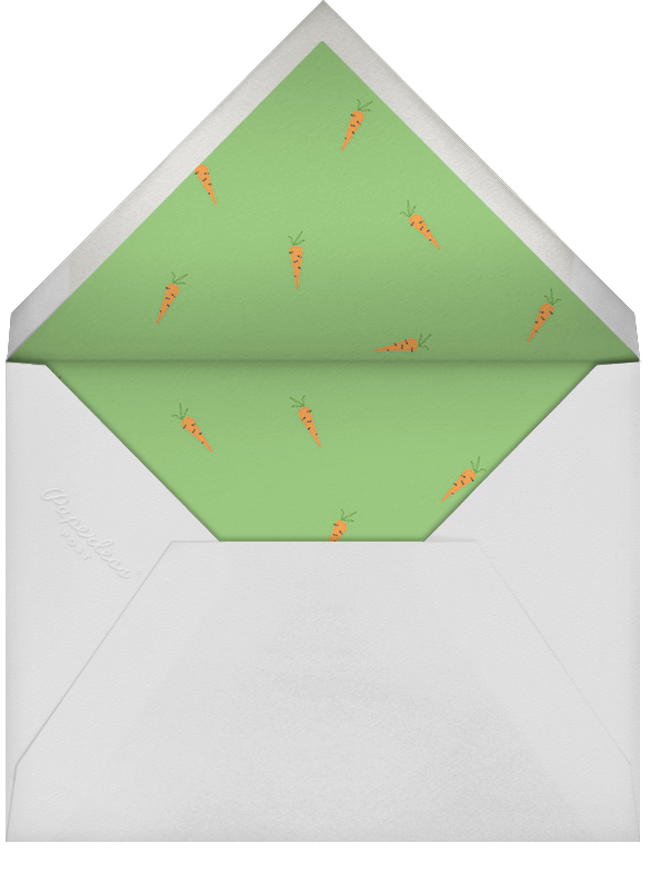 Hare and There - Paperless Post - Woodland baby shower - envelope back