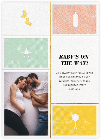 The Symbol Life - Gold - Paperless Post - Baby Shower Invitations