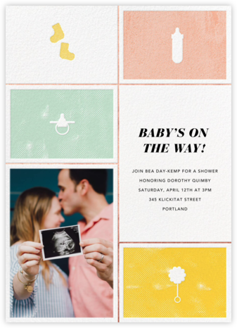 The Symbol Life - Rose Gold - Paperless Post - Baby Shower Invitations