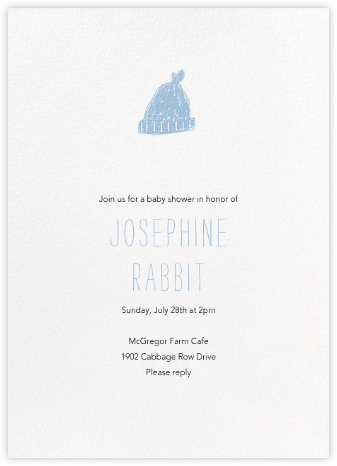 Baby Toque - Spring Rain - Paperless Post - Celebration invitations