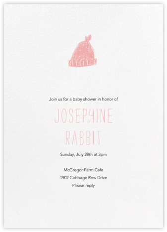 Baby Toque - Blossom - Paperless Post - Celebration invitations