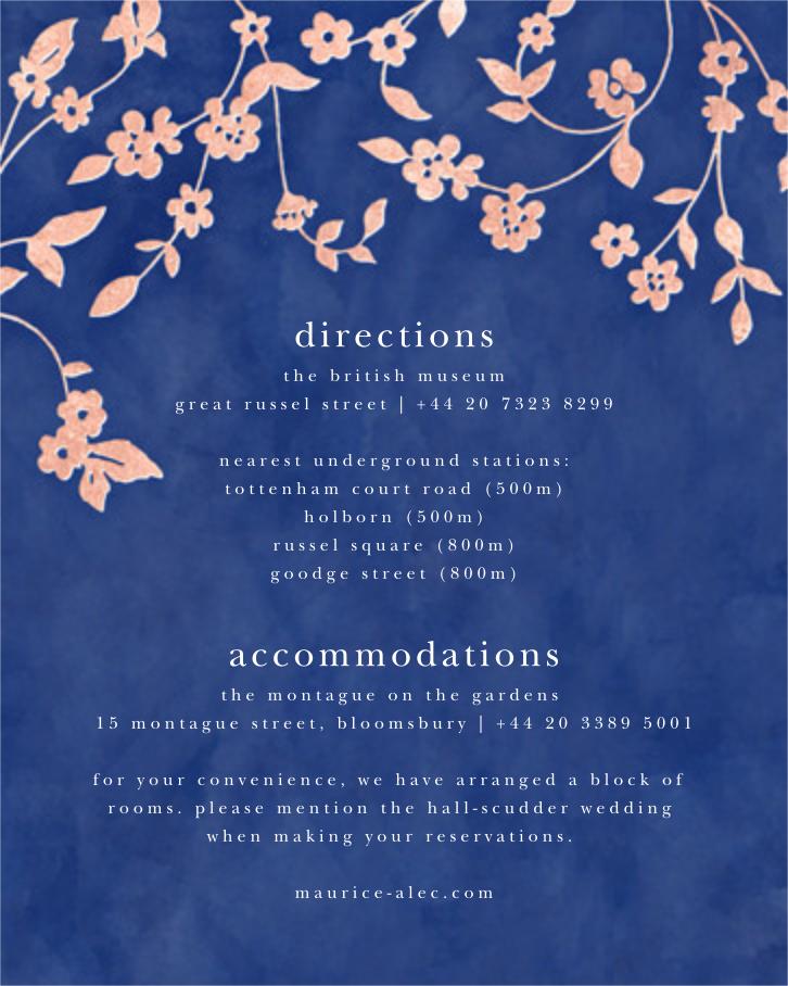 Floral Trellis II - Blue/Rose Gold - Oscar de la Renta - All - insert front