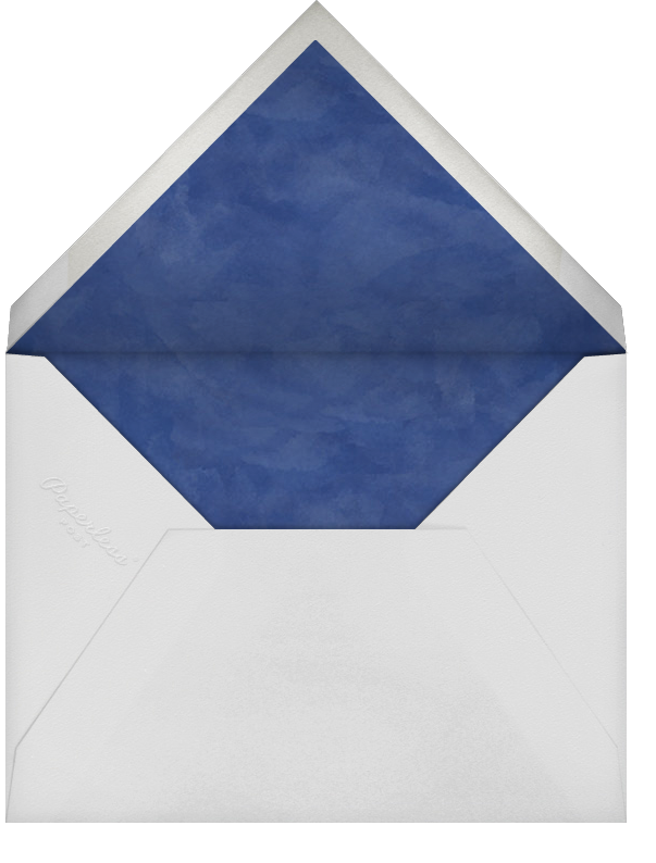 Floral Trellis II (Photo Save the Date) - Blue/Rose Gold - Oscar de la Renta - Photo  - envelope back