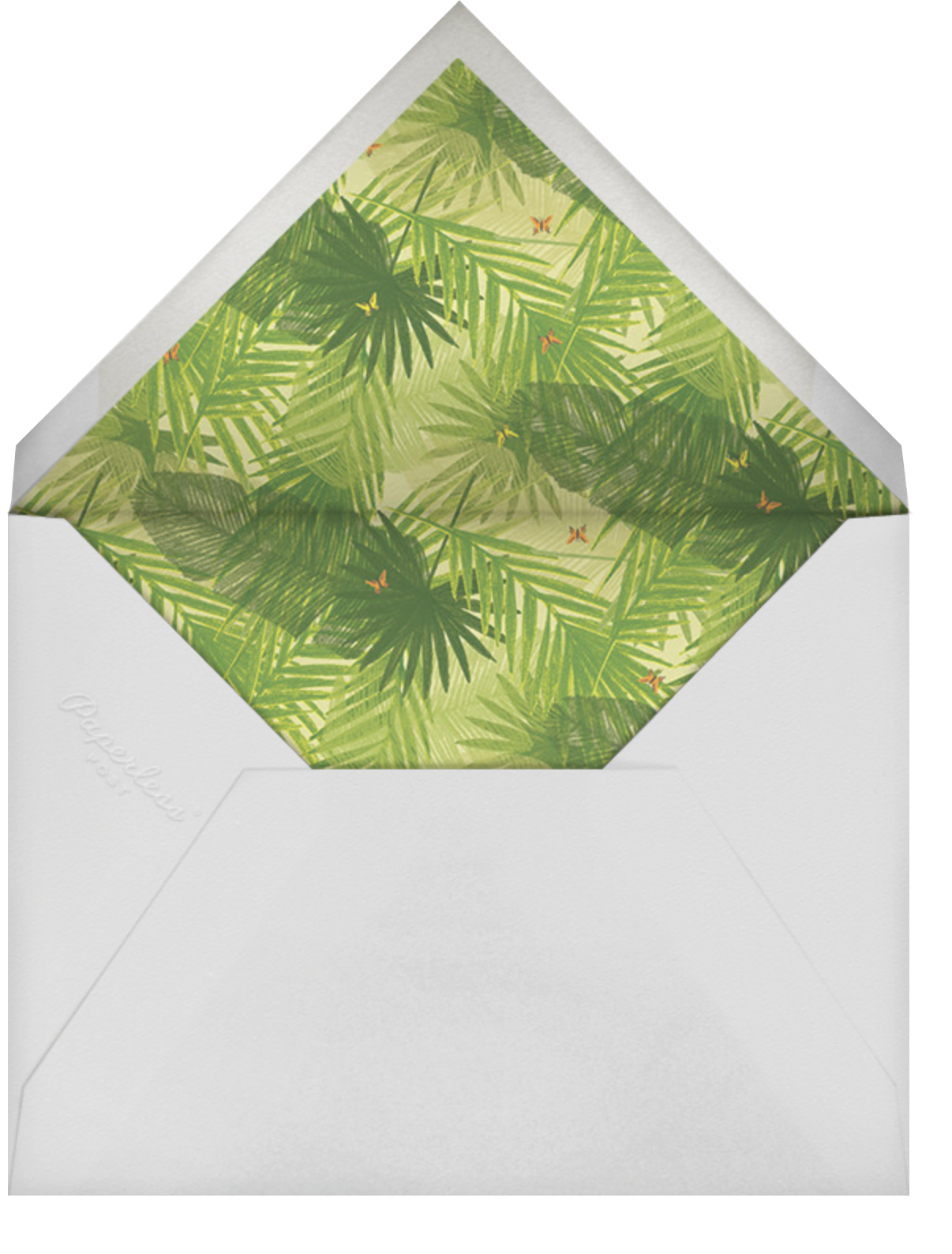 The Vine Print - Paperless Post - Baby shower - envelope back