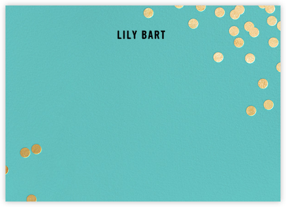 Confetti (Stationery) - Aqua/Gold - kate spade new york - Personalized Stationery