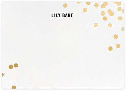Confetti (Stationery) - White/Gold - kate spade new york - Personalized Stationery