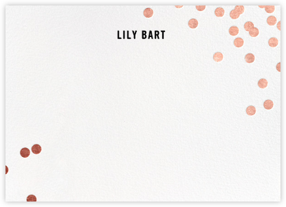 Confetti (Stationery) - White/Rose Gold - kate spade new york - Personalized Stationery