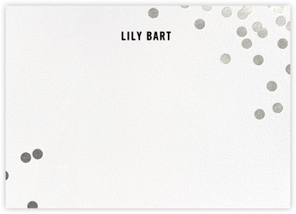 Confetti (Stationery) - White/Silver - kate spade new york - Personalized Stationery