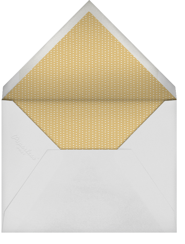 Plume - White/Gold - Paperless Post - Personalized stationery - envelope back
