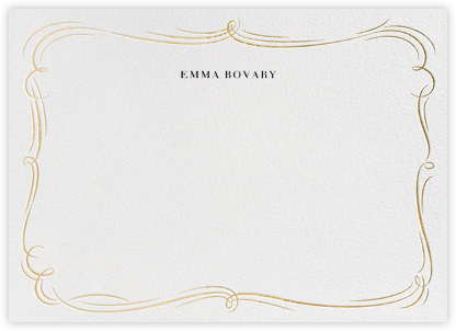 Plume - White/Gold - Paperless Post - Stationery