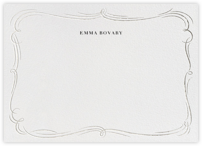 Plume - White/Silver - Paperless Post - Personalized Stationery