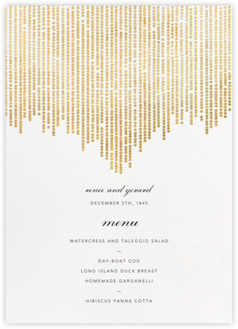 Josephine Baker (Menu) - White/Gold | tall