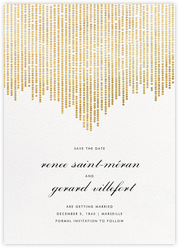 Josephine Baker (Save the Date) - White/Gold