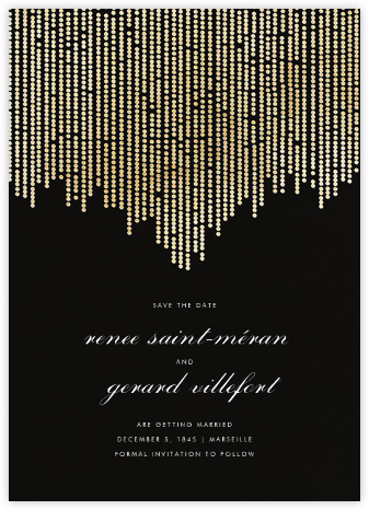 Josephine Baker (Save the Date) - Black/Gold - Paperless Post - Save the dates