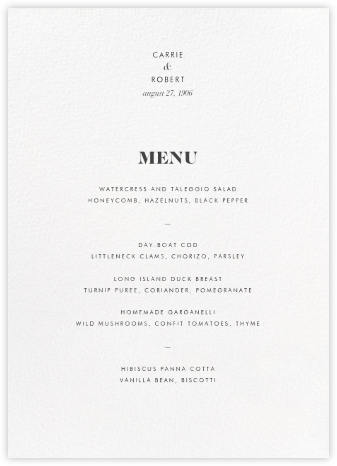 White (Program) - Paperless Post - Wedding menus and programs - available in paper