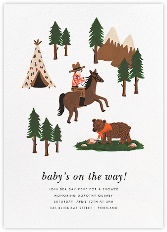 Go West - Rifle Paper Co. - Baby shower invitations