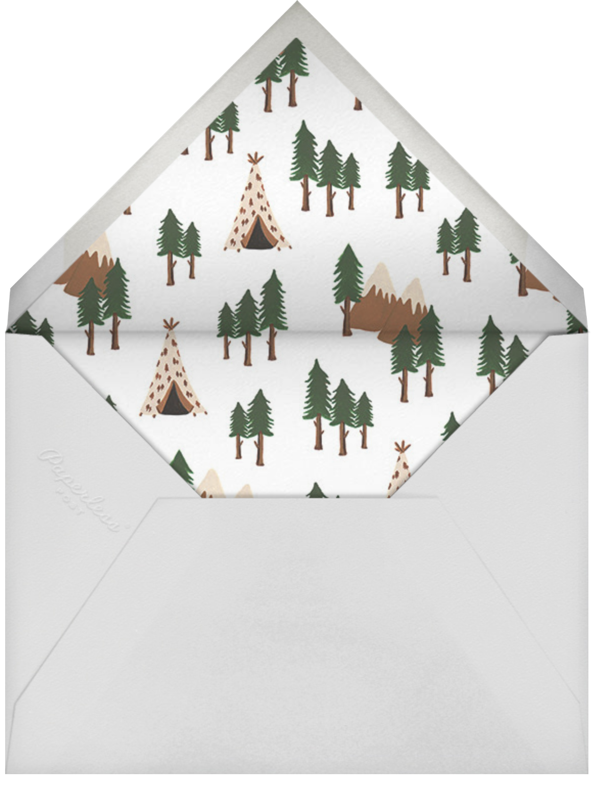 Go West - Fair - Rifle Paper Co. - Baby shower - envelope back