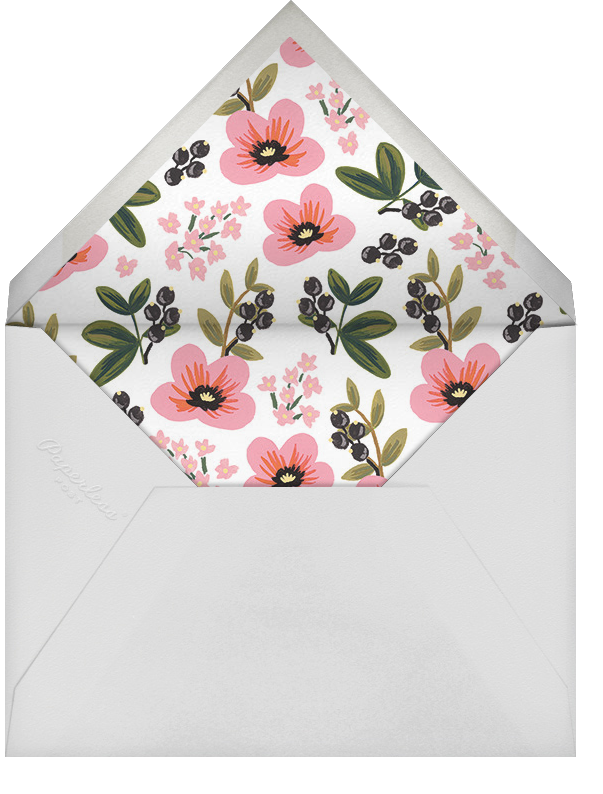 March Posy - Rifle Paper Co. - Bridal shower - envelope back
