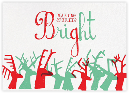 Reindeer Love - Celadon - Mr. Boddington's Studio - Holiday Cards