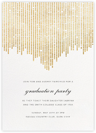 Josephine Baker - White/Gold - Paperless Post - Celebration invitations