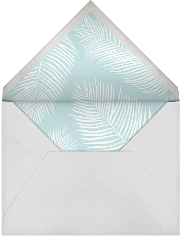 Palmier III (Invitation) - Caribbean/Rose Gold - Paperless Post - All - envelope back