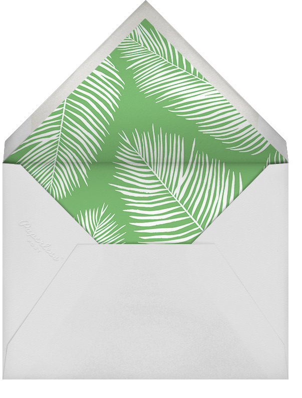 Palmier III (Invitation) - Green/Silver - Paperless Post - All - envelope back