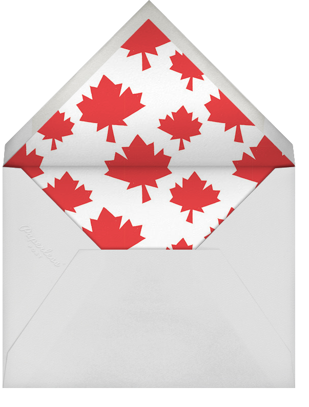 True North - Paperless Post - Canada Day - envelope back