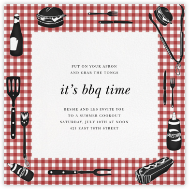 Cookout - Paperless Post - Summer entertaining invitations
