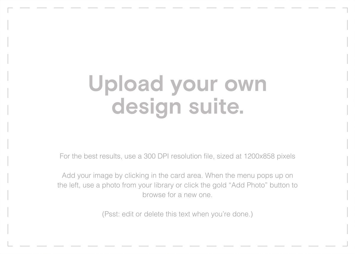 Custom Suite (Horizontal) - Paperless Post - Upload your own