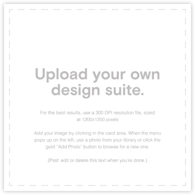 Custom Suite (Square) - Paperless Post - Upload Your Own Invitations