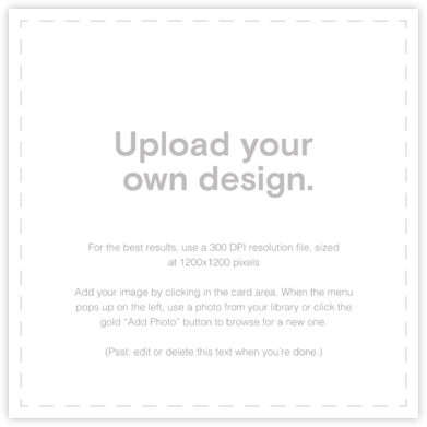 Custom (Square) - Paperless Post - Upload Your Own Invitations