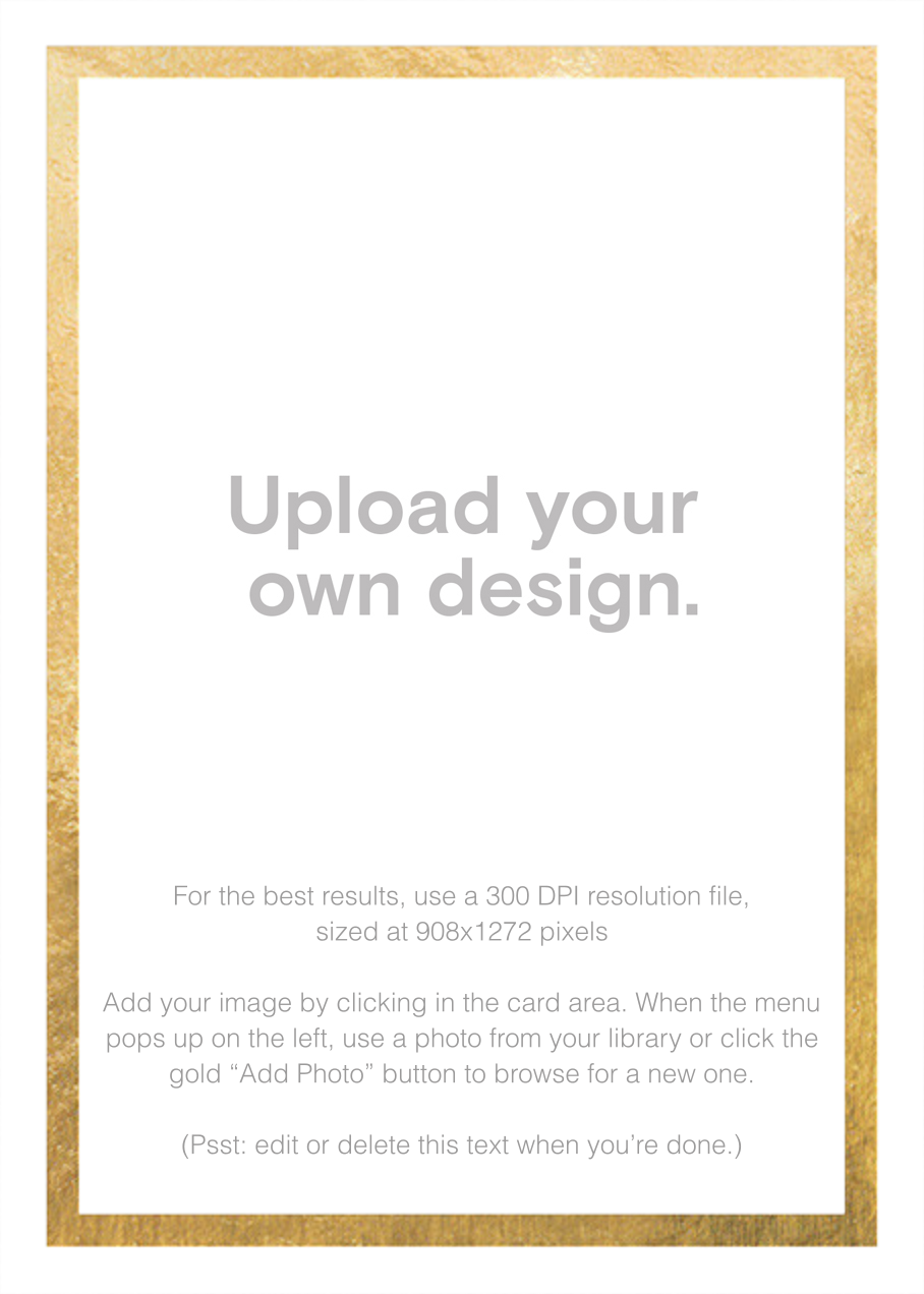 Custom Foil (Tall) - Gold - Paperless Post -
