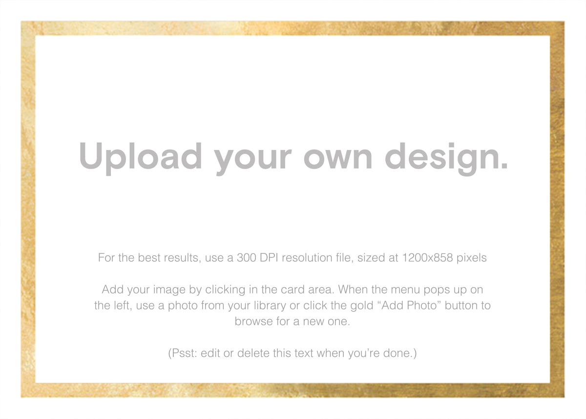 Custom Foil (Horizontal) - Gold - Paperless Post - Upload your own