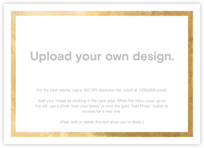 Custom Foil (Horizontal) - Gold - Paperless Post - Upload your own