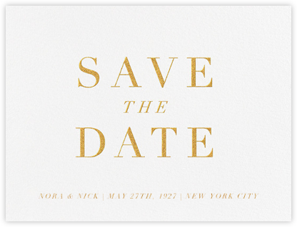 Croquet - Gold - Paperless Post - Gold and metallic save the dates