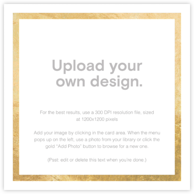 Custom Foil (Two-Sided Square) - Gold - Paperless Post - Upload Your Own Invitations