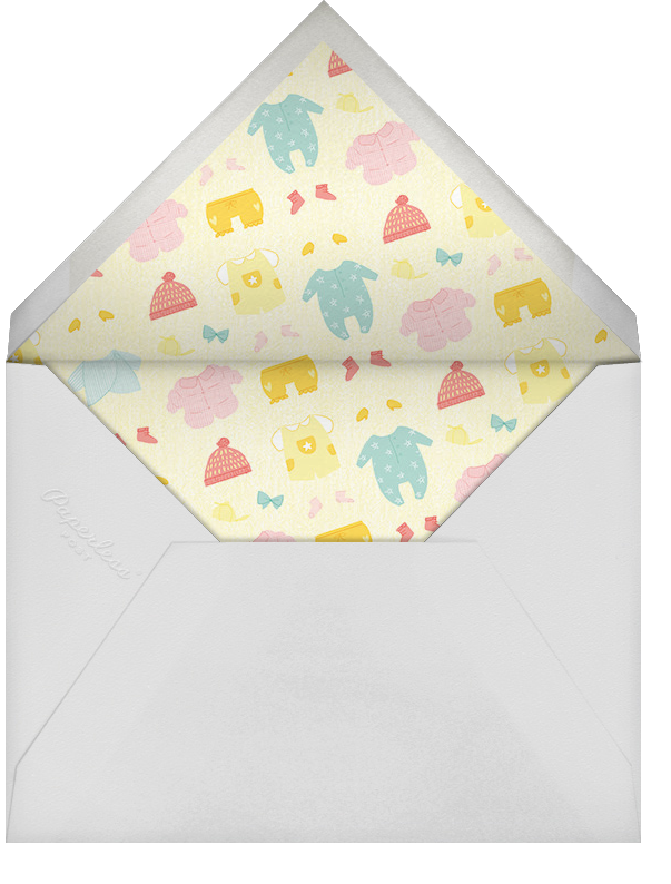 Diapered and Dapper - Mahogany - Paperless Post - Baby shower - envelope back