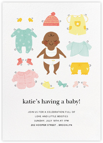 Diapered and Dapper - Mahogany - Paperless Post - Baby Shower Invitations