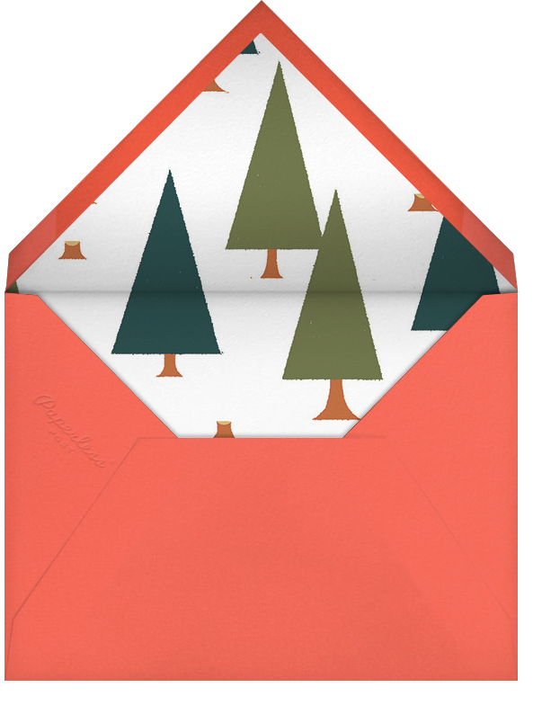 Lumber Party - Dawn - Paperless Post - Woodland baby shower - envelope back